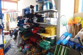facilities plaka camping shop